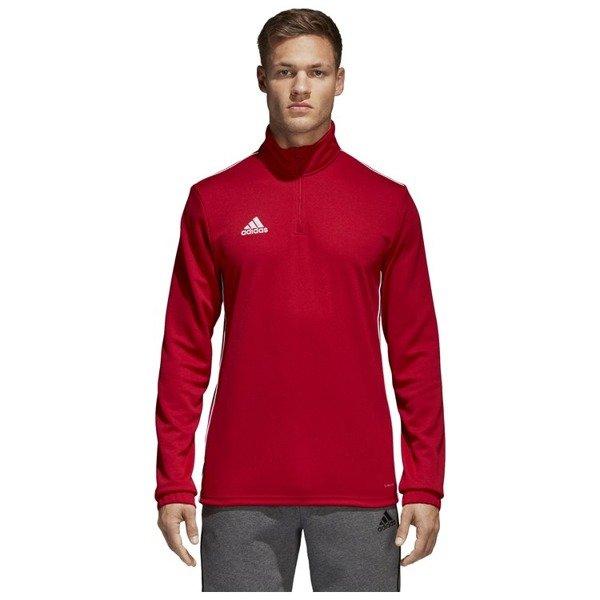 Bluza treningowa męska adidas Core 18 czerwona bez kaptura